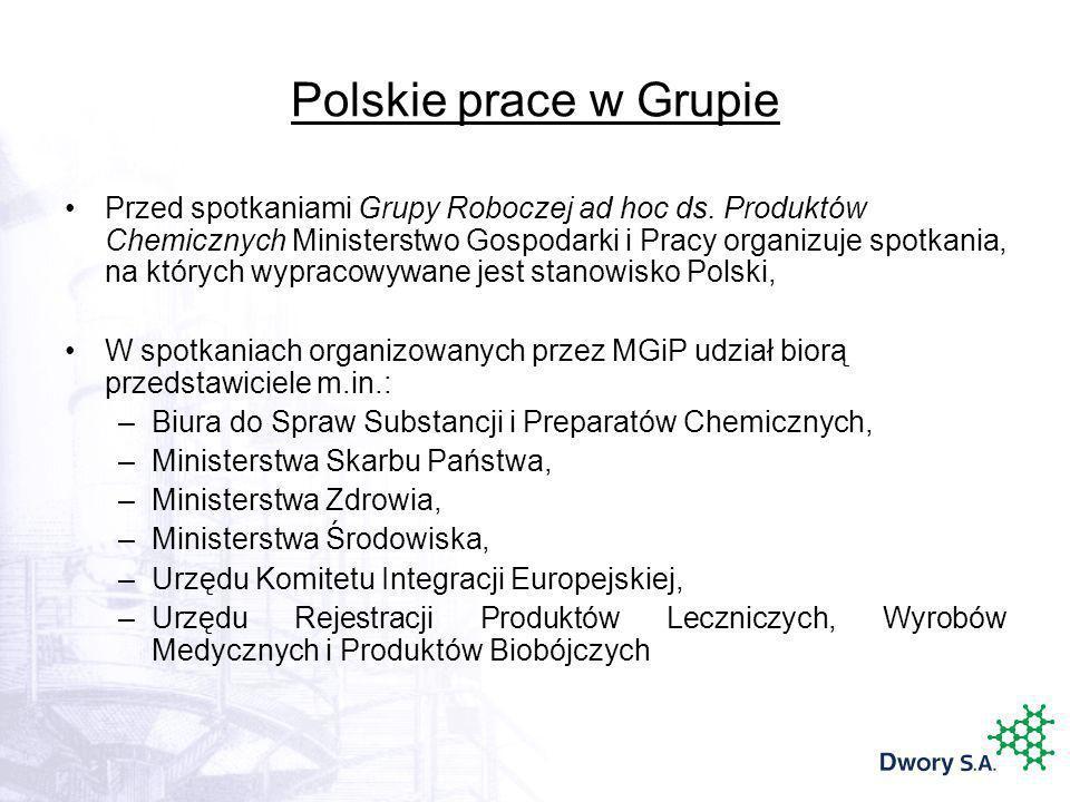 Polskie prace w Grupie