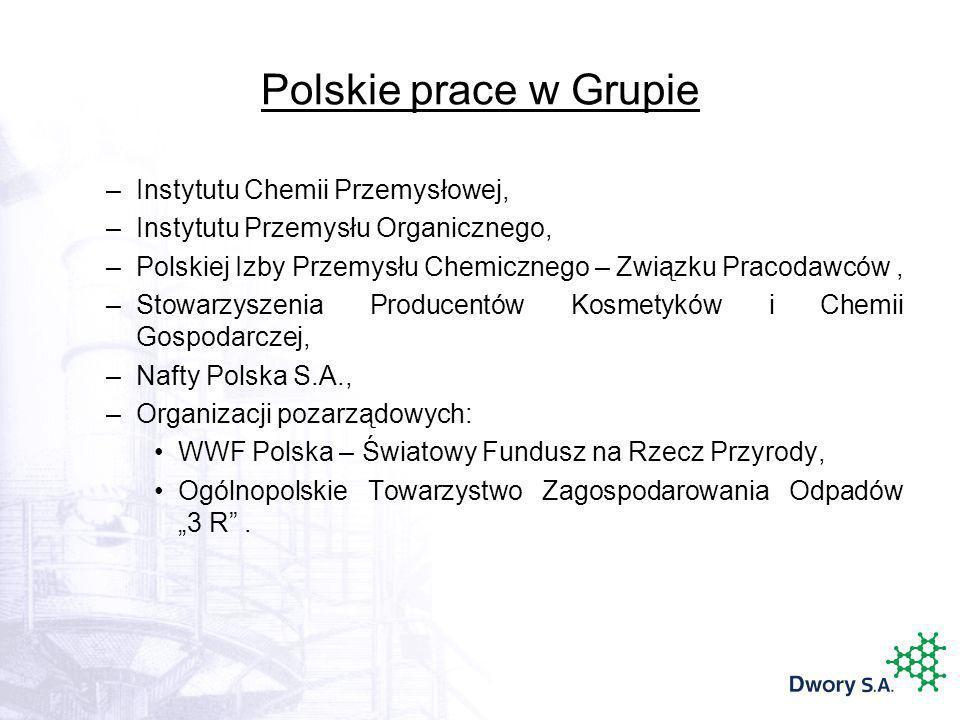 Polskie prace w Grupie Instytutu Chemii Przemysłowej,