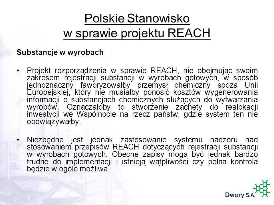 Polskie Stanowisko w sprawie projektu REACH
