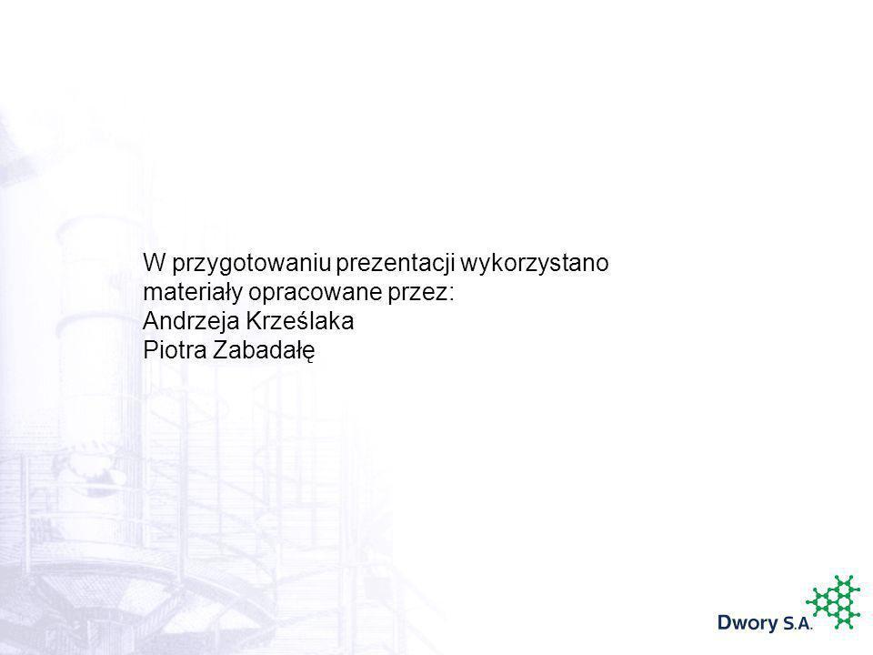W przygotowaniu prezentacji wykorzystano materiały opracowane przez: Andrzeja Krześlaka Piotra Zabadałę