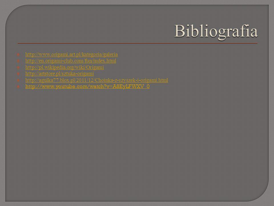 Bibliografia http://www.origami.art.pl/kategoria/galeria
