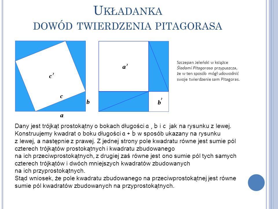 Układanka dowód twierdzenia pitagorasa