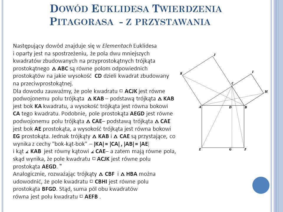 Dowód Euklidesa Twierdzenia Pitagorasa - z przystawania