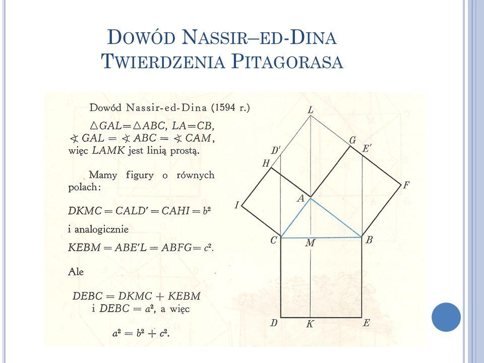 Dowód Nassir–ed-Dina Twierdzenia Pitagorasa