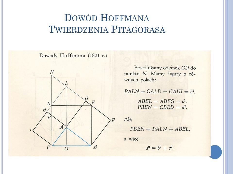 Dowód Hoffmana Twierdzenia Pitagorasa