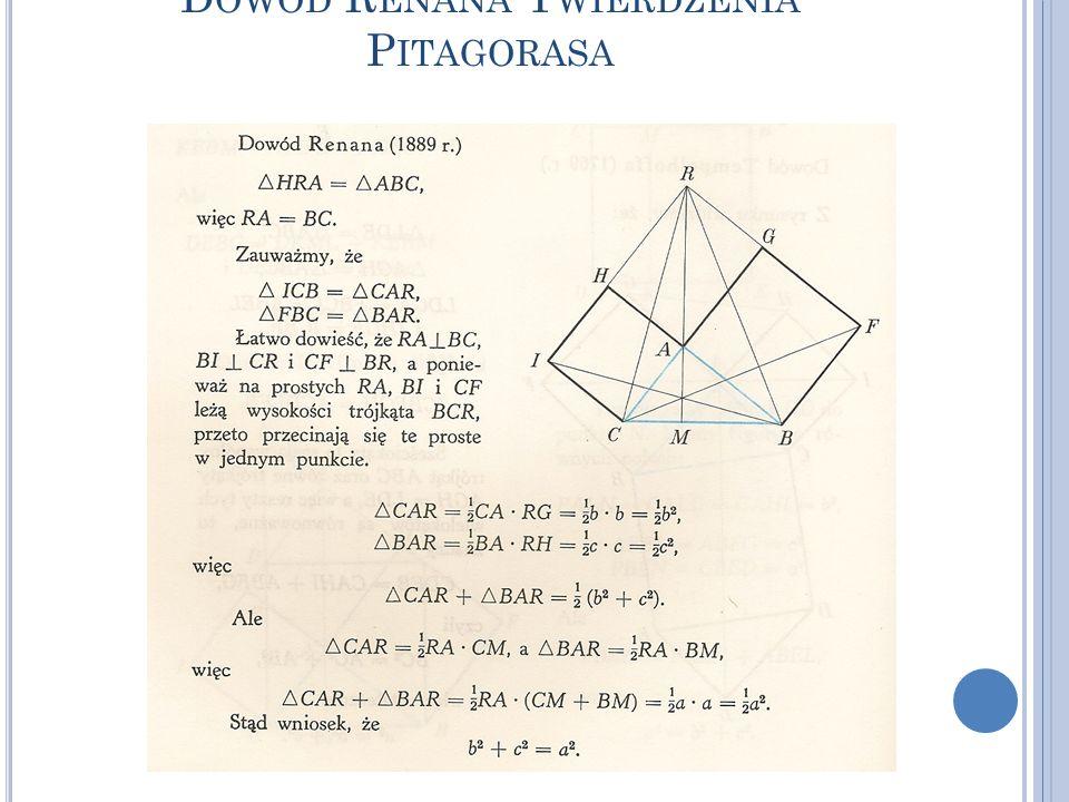 Dowód Renana Twierdzenia Pitagorasa
