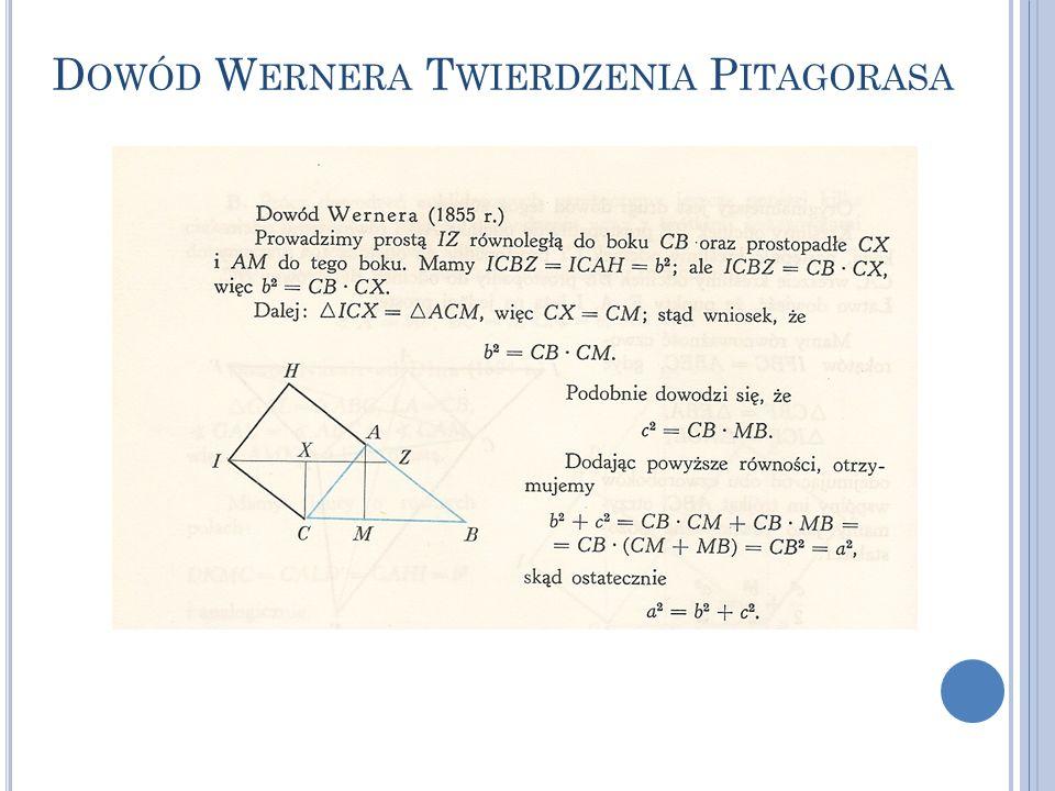 Dowód Wernera Twierdzenia Pitagorasa