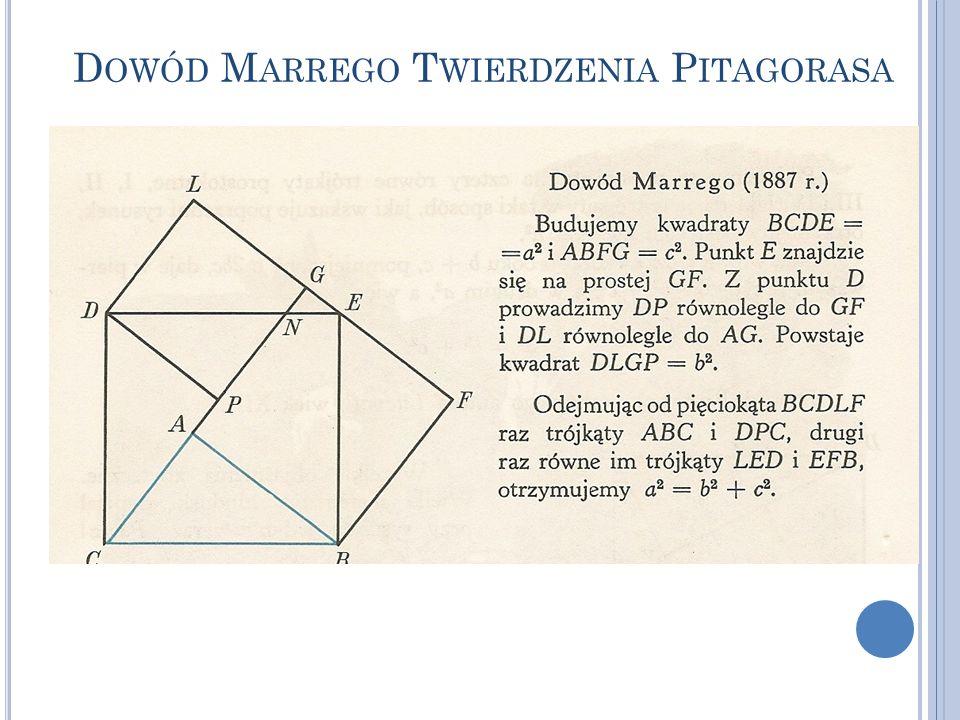 Dowód Marrego Twierdzenia Pitagorasa