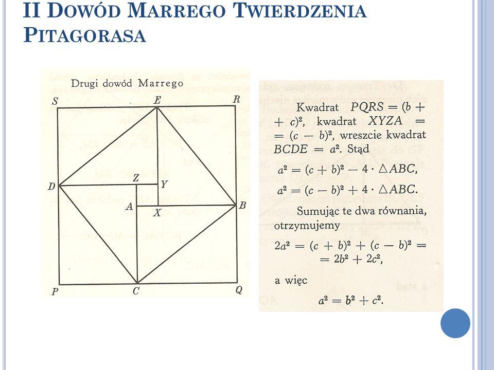 II Dowód Marrego Twierdzenia Pitagorasa
