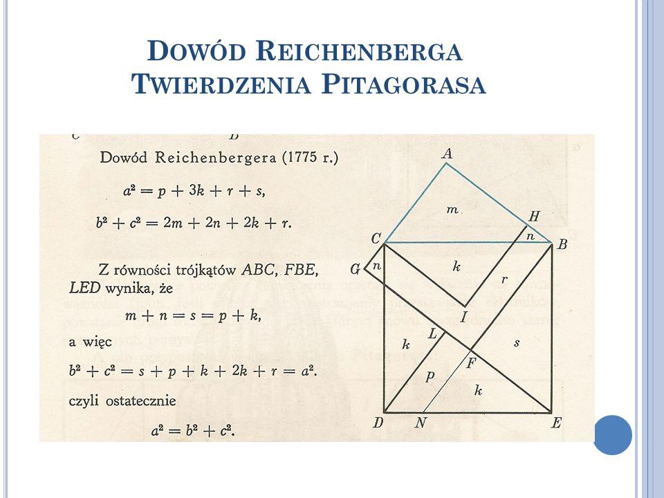 Dowód Reichenberga Twierdzenia Pitagorasa