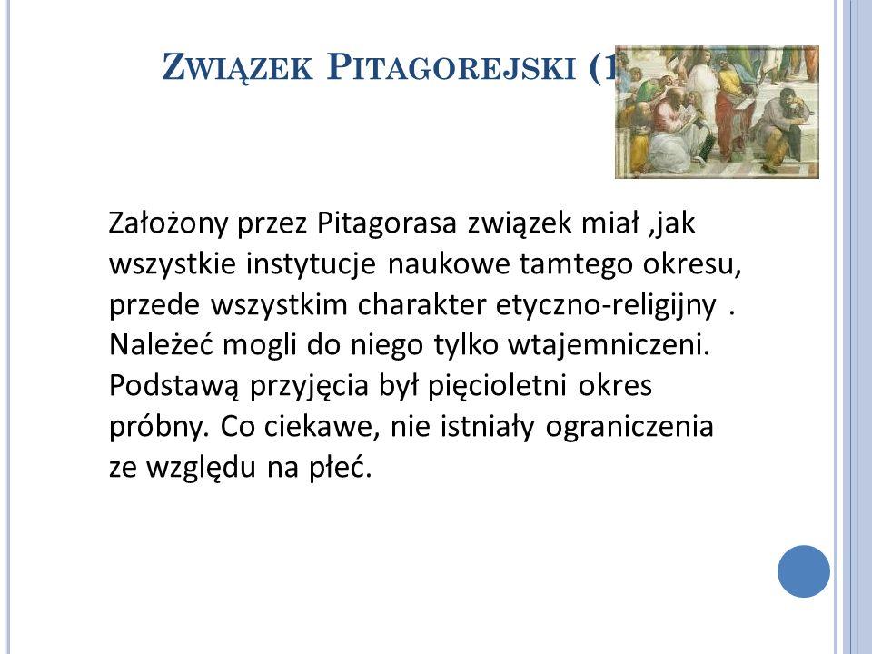 Związek Pitagorejski (1)
