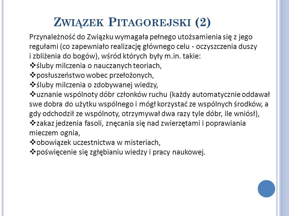 Związek Pitagorejski (2)