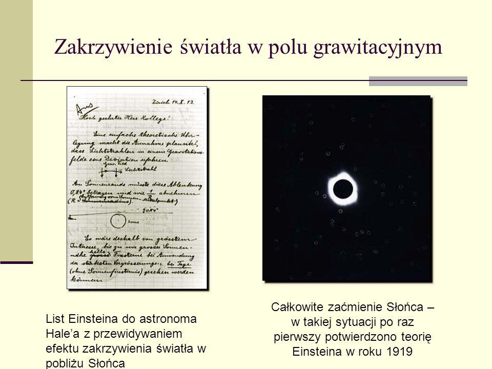 Zakrzywienie światła w polu grawitacyjnym
