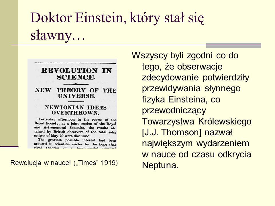 Doktor Einstein, który stał się sławny…