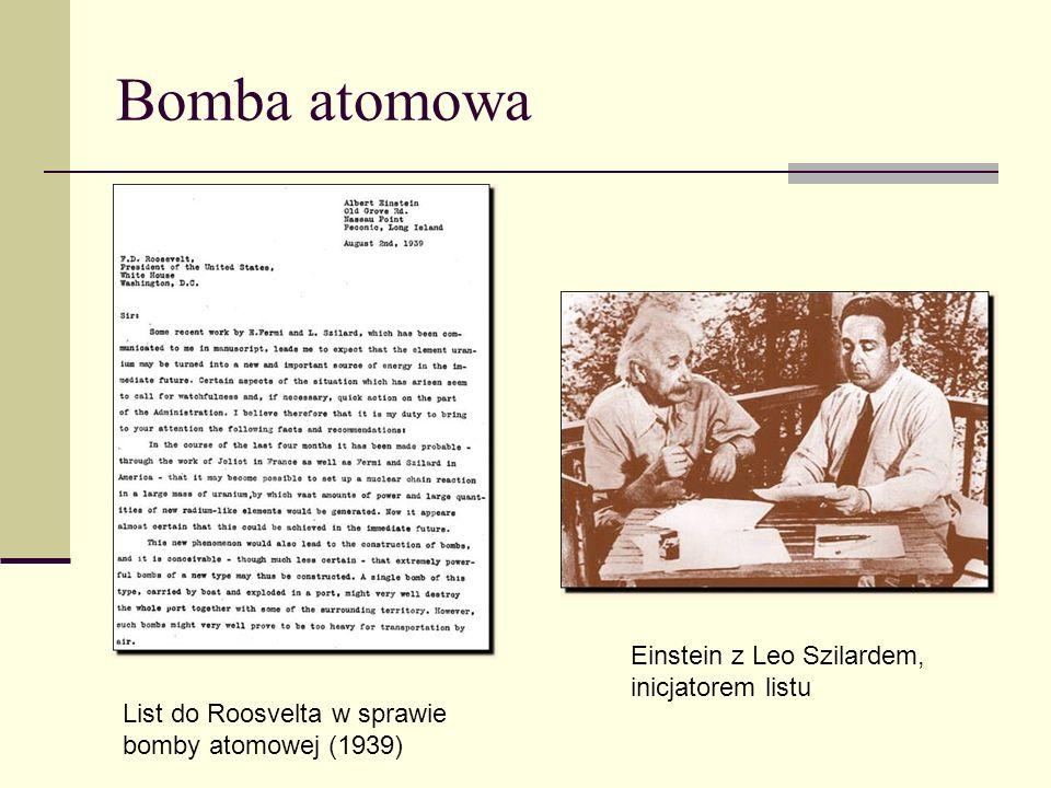 Bomba atomowa Einstein z Leo Szilardem, inicjatorem listu