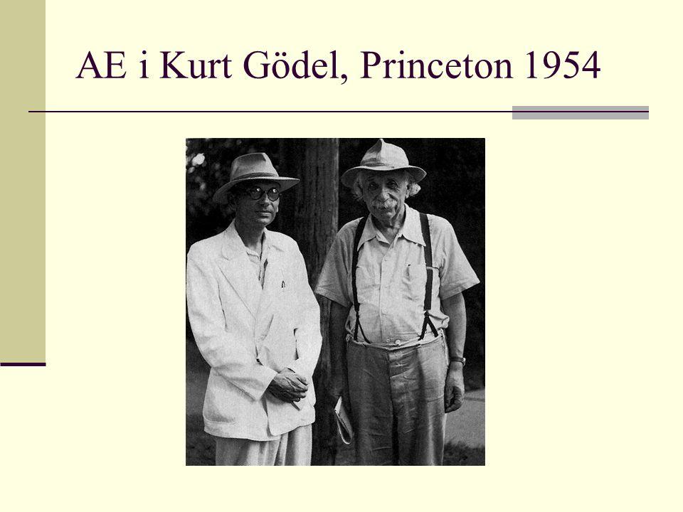 AE i Kurt Gödel, Princeton 1954