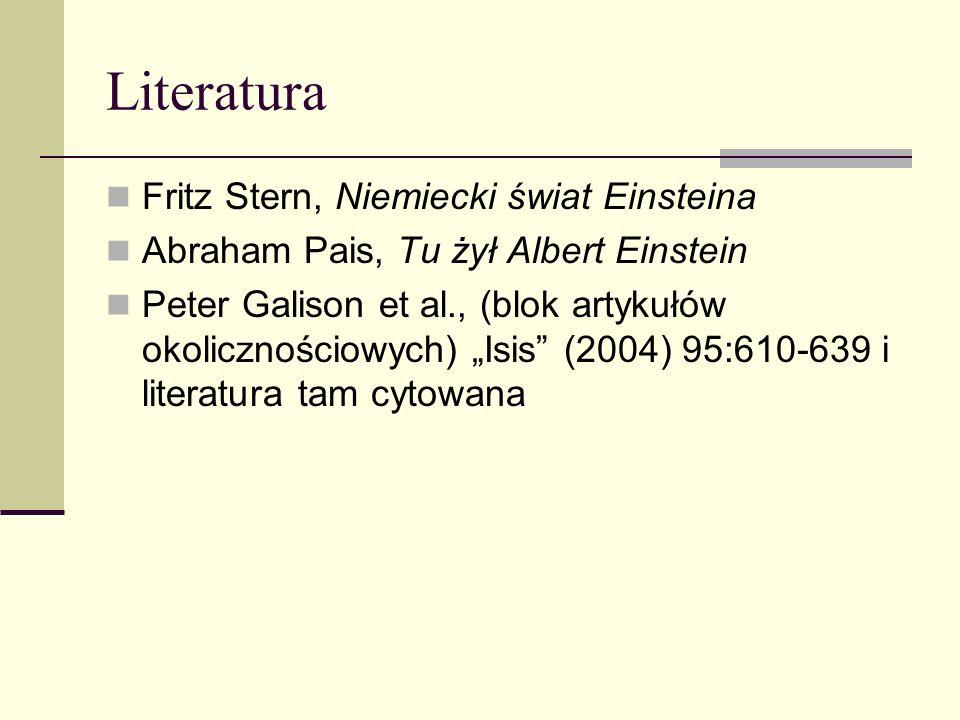 Literatura Fritz Stern, Niemiecki świat Einsteina