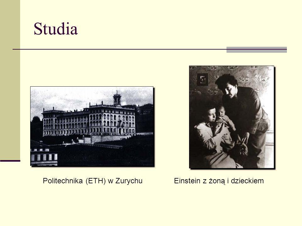 Studia Politechnika (ETH) w Zurychu Einstein z żoną i dzieckiem