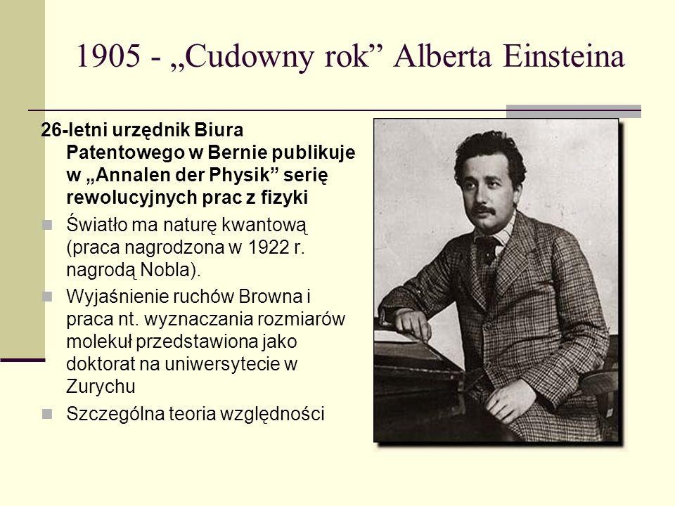 """1905 - """"Cudowny rok Alberta Einsteina"""