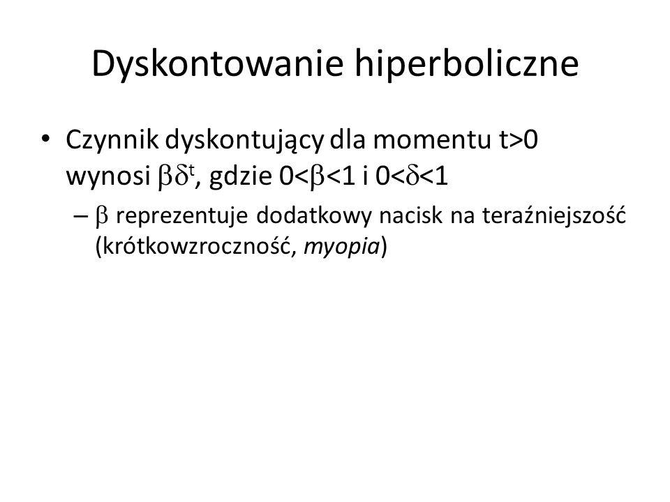 Dyskontowanie hiperboliczne
