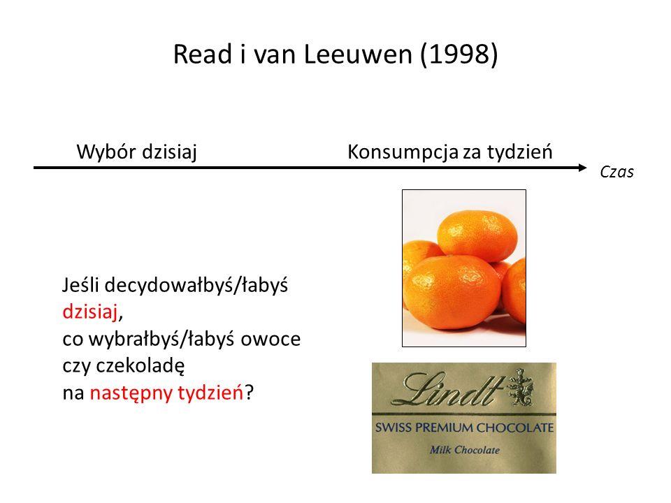 Read i van Leeuwen (1998) Wybór dzisiaj Konsumpcja za tydzień