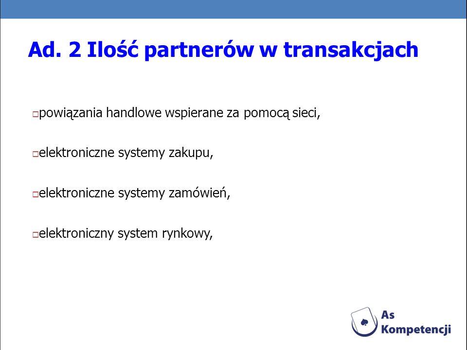 Ad. 2 Ilość partnerów w transakcjach