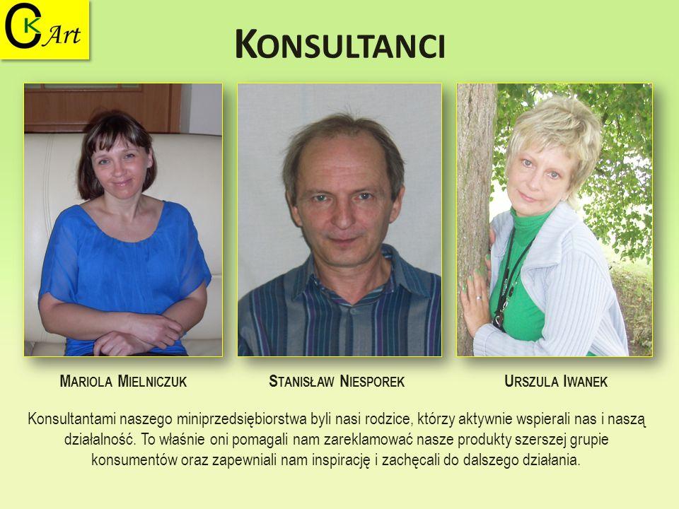 Konsultanci Mariola Mielniczuk Stanisław Niesporek Urszula Iwanek