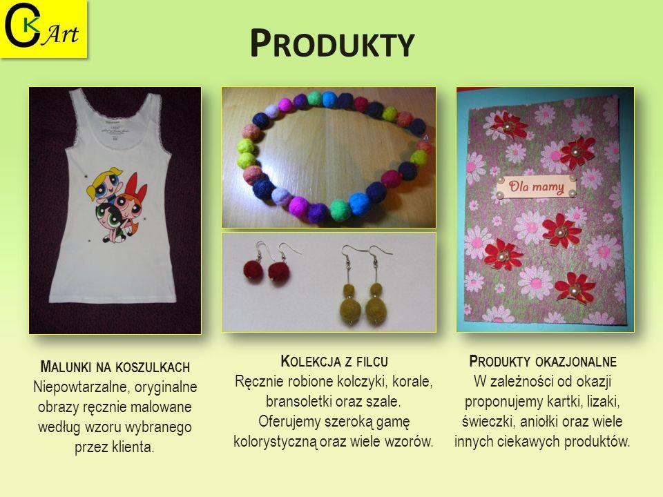 Produkty Kolekcja z filcu