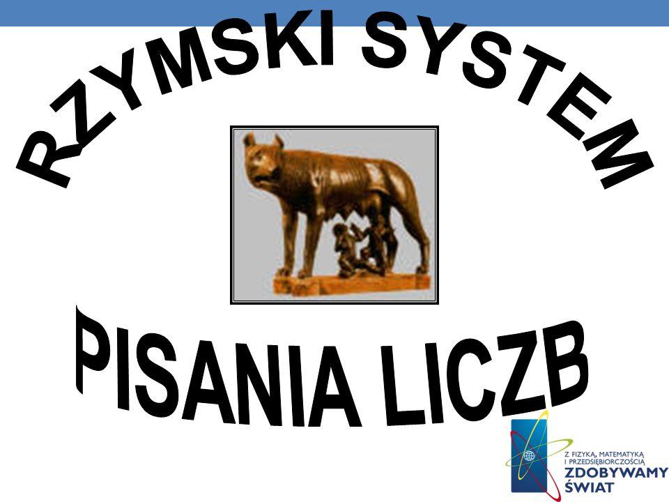 RZYMSKI SYSTEM PISANIA LICZB