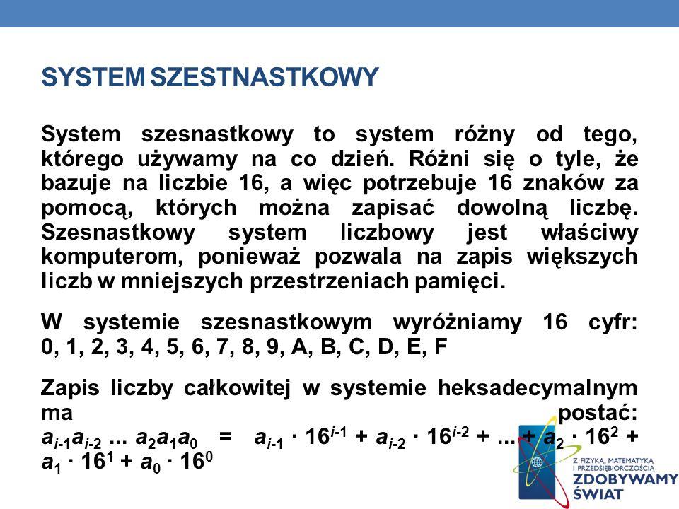 SYSTEM SZESTNASTKOWY