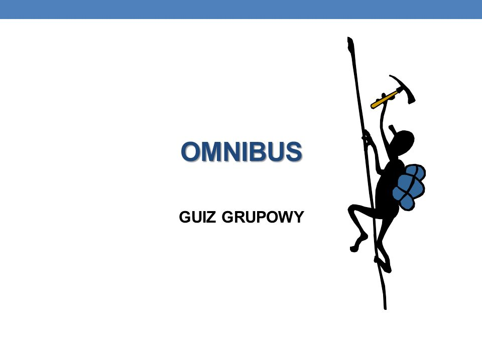 OMNIBUS GUIZ GRUPOWY
