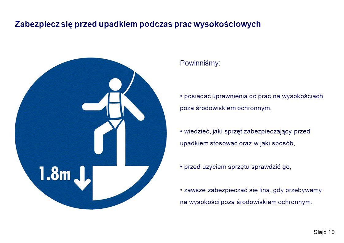Zabezpiecz się przed upadkiem podczas prac wysokościowych