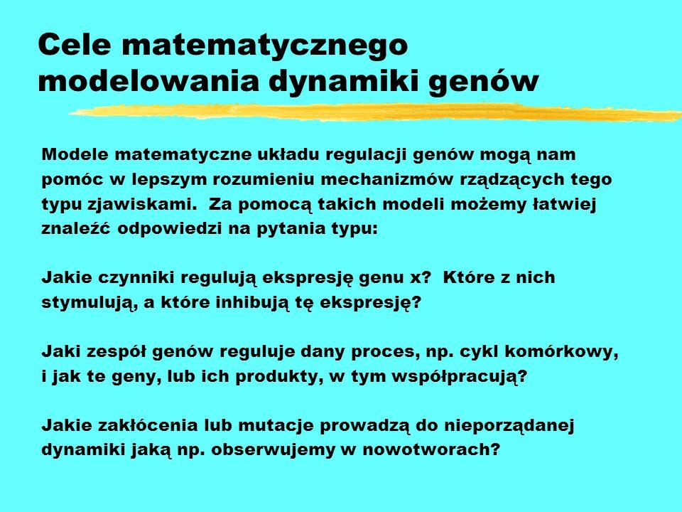 Cele matematycznego modelowania dynamiki genów