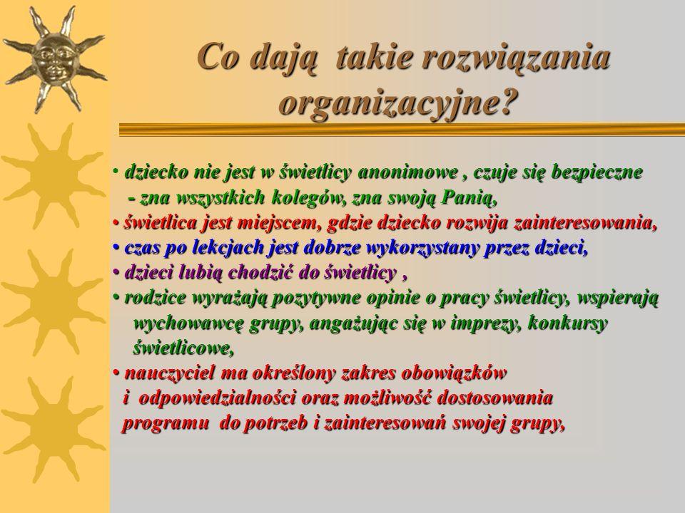 Co dają takie rozwiązania organizacyjne