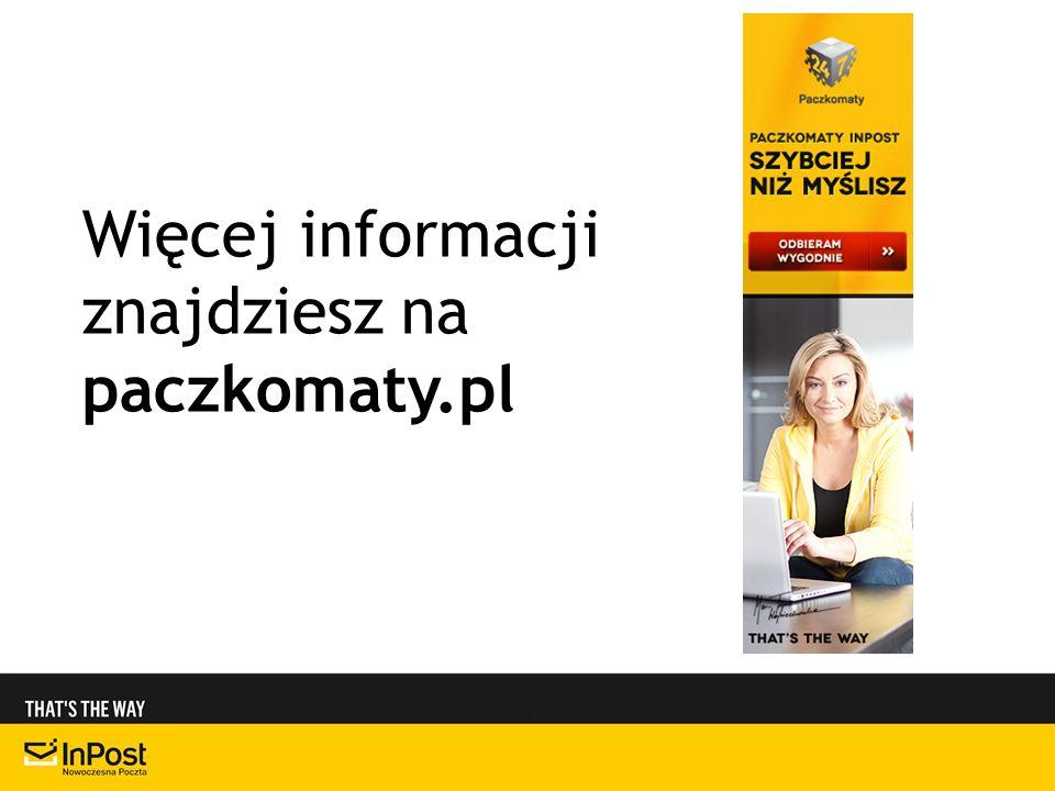 Więcej informacji znajdziesz na paczkomaty.pl