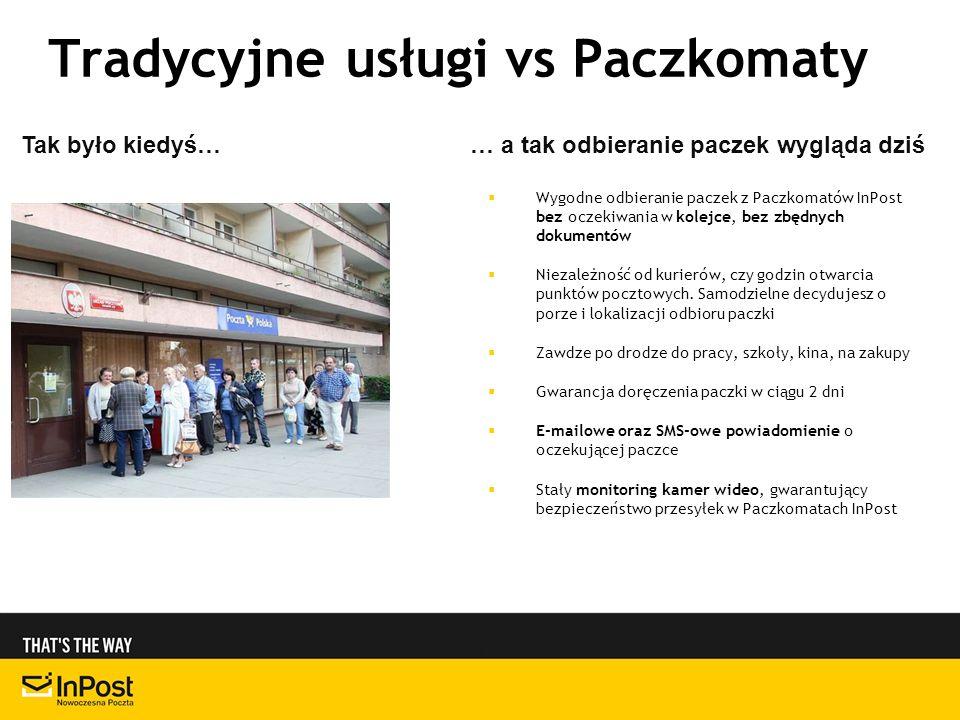 Tradycyjne usługi vs Paczkomaty
