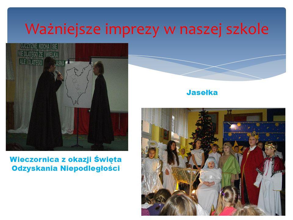 Ważniejsze imprezy w naszej szkole