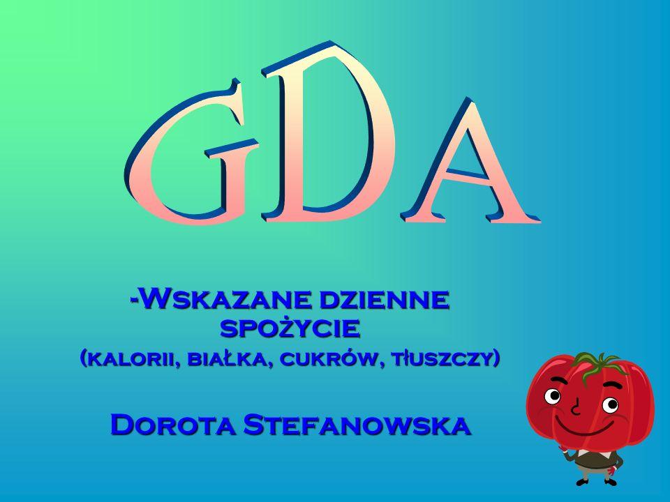GDA Wskazane dzienne spożycie Dorota Stefanowska