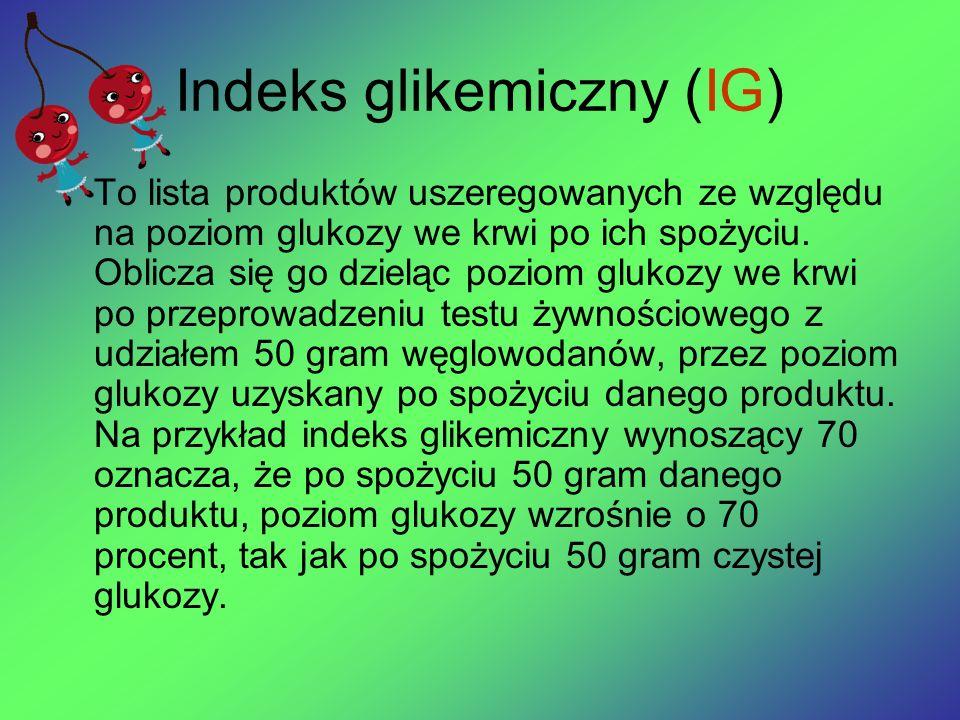 Indeks glikemiczny (IG)