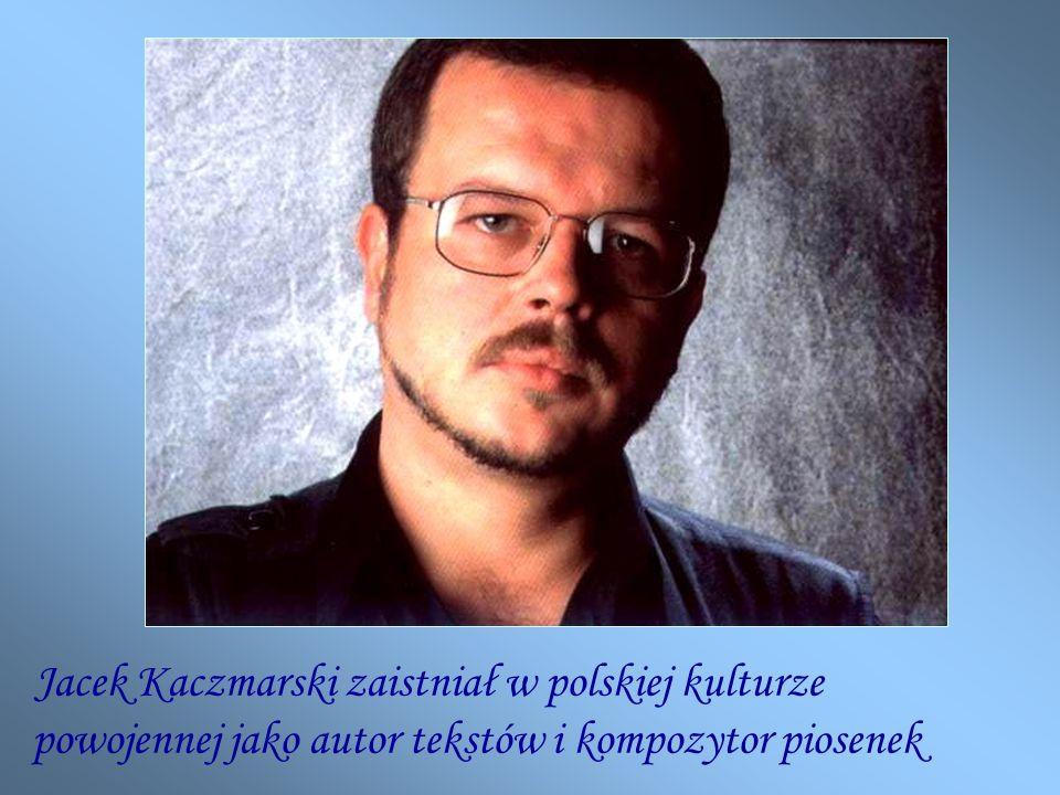 powojennej jako autor tekstów i kompozytor piosenek