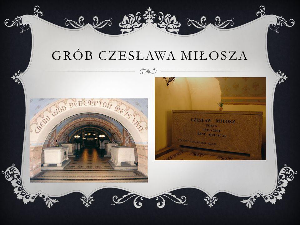 Grób Czesława Miłosza