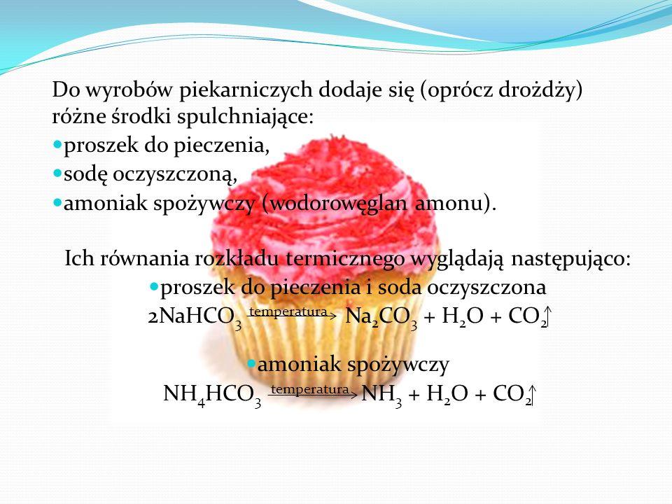 amoniak spożywczy (wodorowęglan amonu).