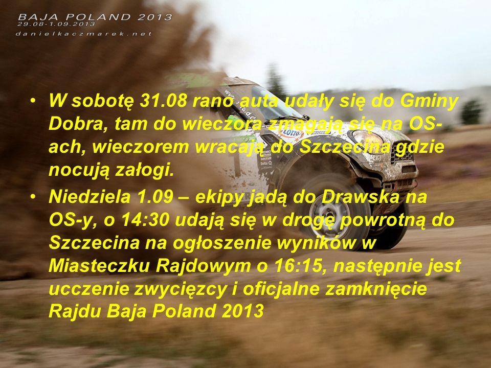 W sobotę 31.08 rano auta udały się do Gminy Dobra, tam do wieczora zmagają się na OS-ach, wieczorem wracają do Szczecina gdzie nocują załogi.