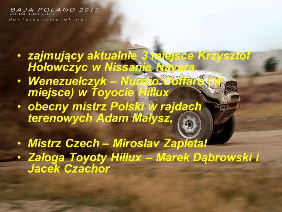 zajmujący aktualnie 3 miejsce Krzysztof Hołowczyc w Nissanie Navara