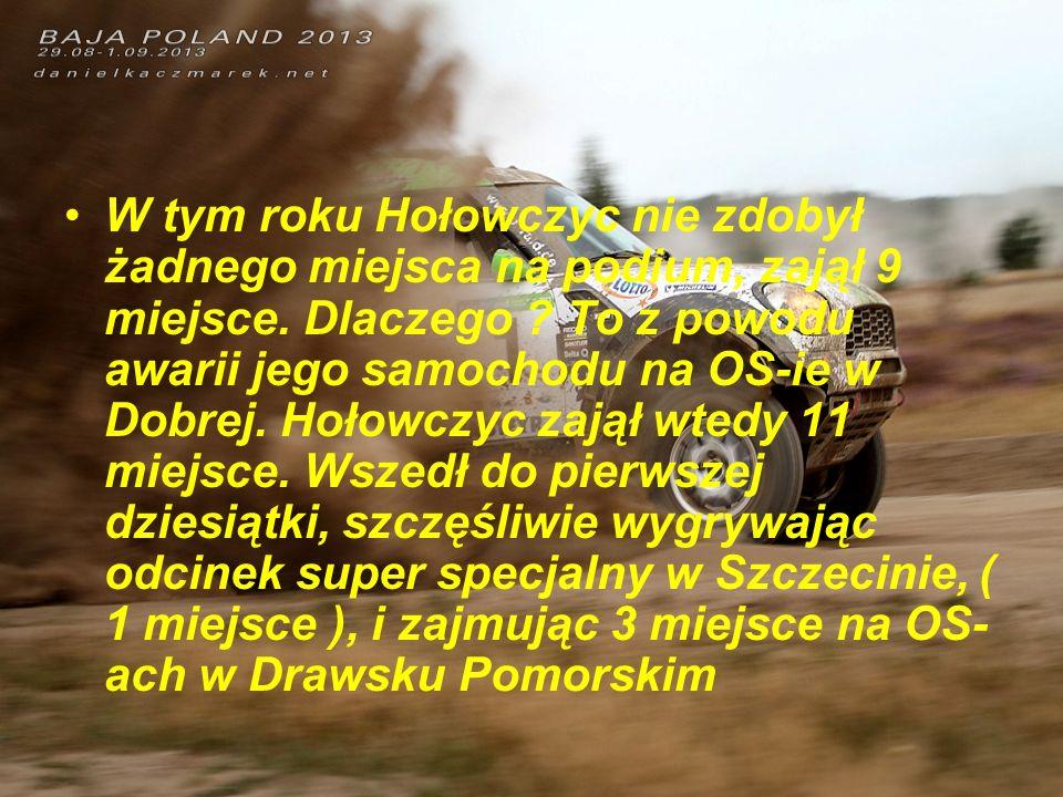 W tym roku Hołowczyc nie zdobył żadnego miejsca na podium, zajął 9 miejsce.
