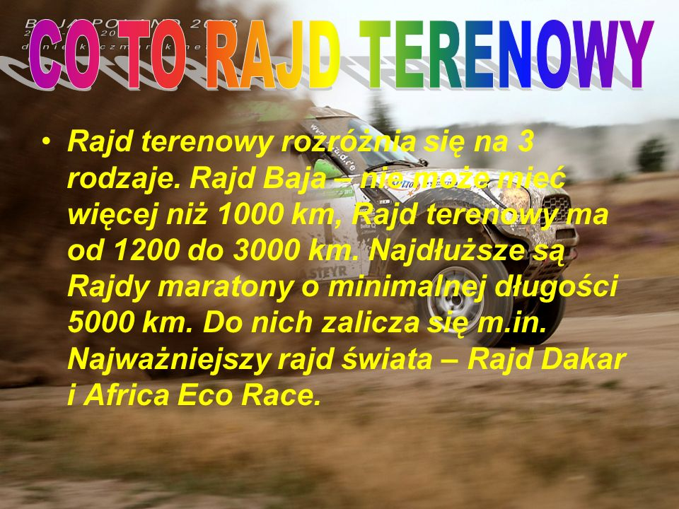 CO TO RAJD TERENOWY