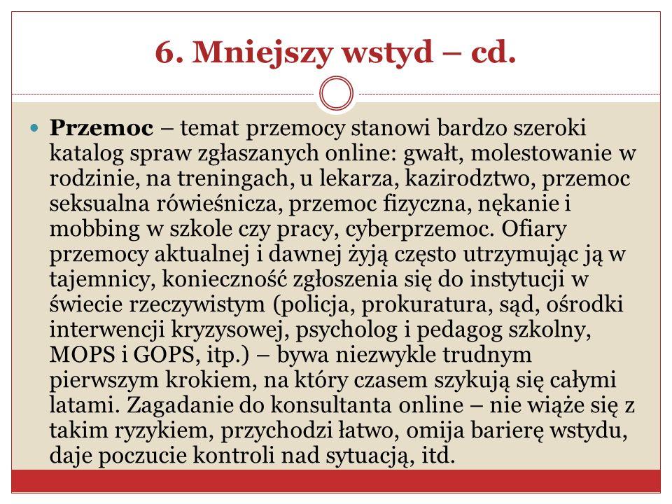 6. Mniejszy wstyd – cd.