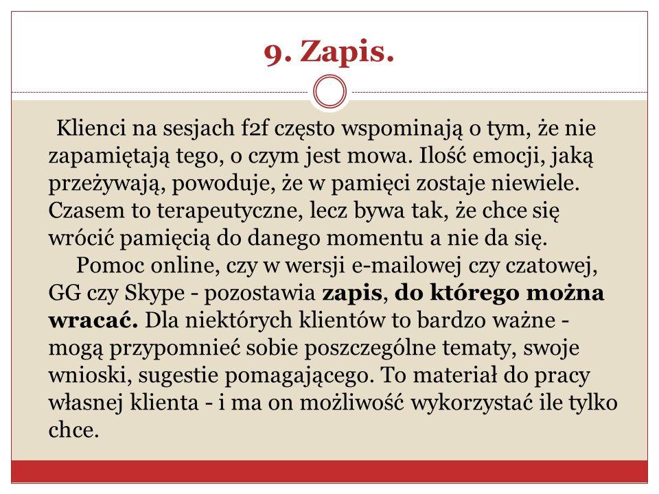 9. Zapis.