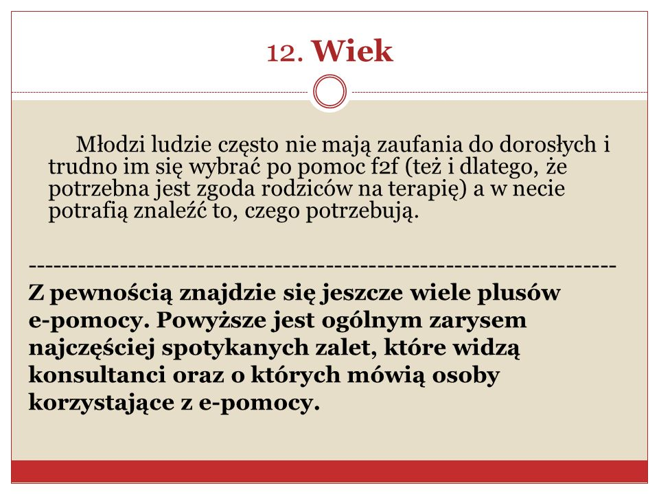 12. Wiek