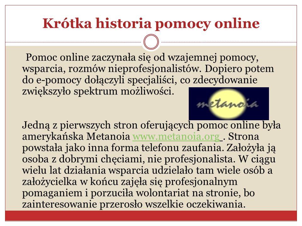 Krótka historia pomocy online